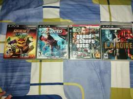 Juegos ps3 gta 4 uncharted la noire ratchet y clank