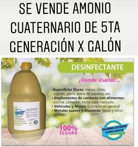 Amonio cuaternario de quinta generacion