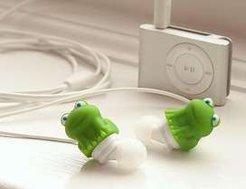 Audifonos DCI earbuds frog(rana) green.