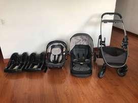 Sistema coche y silla carro bebé - Graco