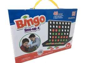 Bingo cuatro líneas juego mesa familiar