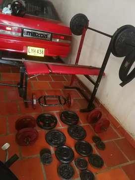 Vendo mini gimnasio gym
