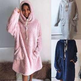 Maxi Pijama, de Corderito bifaz. Super calentito. - Fabrica -  Fashion Meow - Envios al interior en el dia