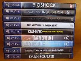 Vendo juegos PS4 desde 50