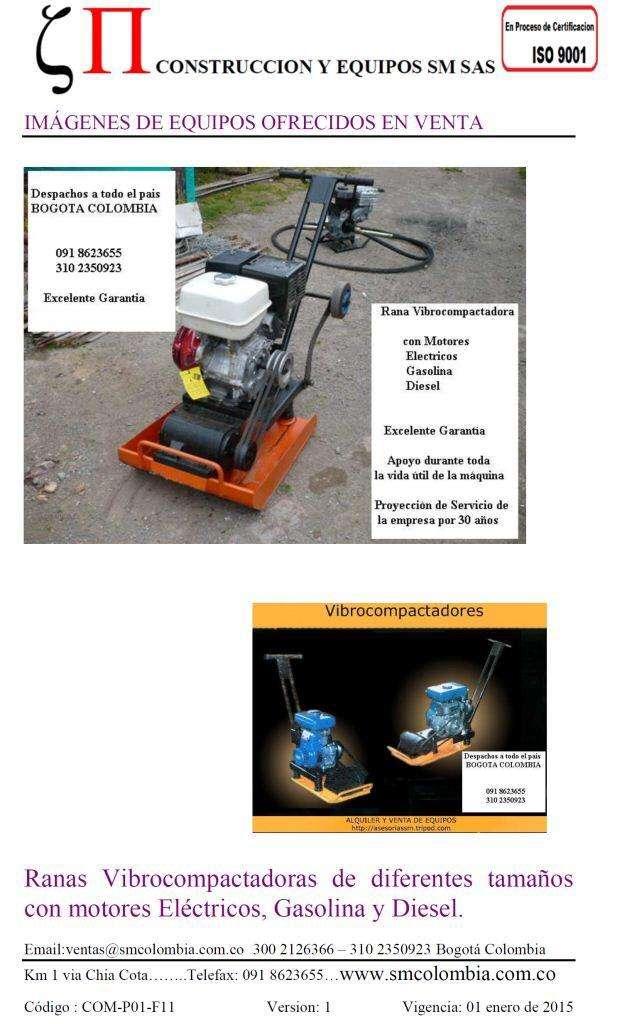 Vibrocompactadores Ranas Construcción Cortadoras piso asfalto concreto