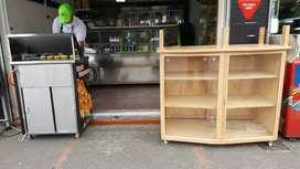 Mueble vitrina para obleas u otro uso un año de uso