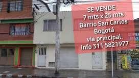 Venta casa B.San Carlos Sur  Bogotá