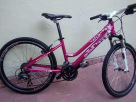 Vendo bicicleta de montaña para niña.