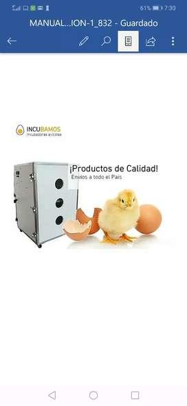 Incubadoras avicolas 50 huevos. Dos por 1.100.000