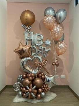 Bouquets /globos : Detalle de CUMPLEAÑOS
