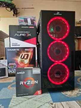 PC GAMER RYZEN 5 5600G 4.2GHZ 8GB RAM DDR4 SSD SOLIDO JUEGS WINDOWS PC A ESTRENAR NUEVA GARANTIA