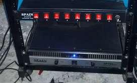Vendo amplificador , consola y dos bafles de 15 pulgadas spain