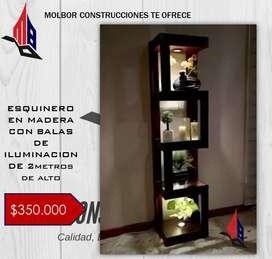 ESQUINERO EN MADERA DE 2m DE ALTO