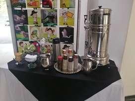 Estación de café, café aromáticas, alquiler de grecas