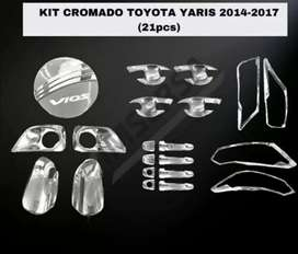 Cromados toyota Yarís 2014 al 2017