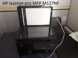 Impresora hp con toner