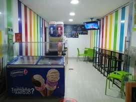 Vendo negocio heladería acreditada