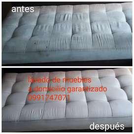 Limpieza y lavado de muebles colchones desinfección