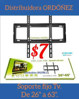 Soporte tv fijo de pared para pantallas planas y curve de 23 a 63 pulgadas