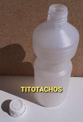 Botellas de 500cc nuevas para alcohol etilico!! Con tapas