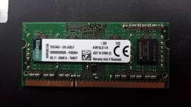 Vendo memoria ram 4gb notebook