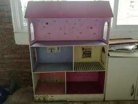 casita de muñeca 3 pisos