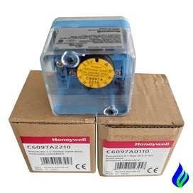 Presostato 2.5 a 50 mBar Auto Reset Honeywell C6097A2210 Presostato para gas  Suiche para aire