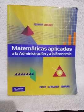 Matemáticas aplicadas a la administración y a la economía (usado)