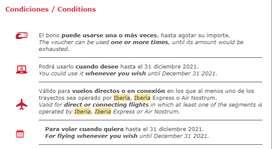 Bono para viajar a Europa (Iberia)