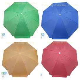 Parasol Sombrilla 2 mts Alt Impermeables Tela. Exterior-Interior. Elije Color