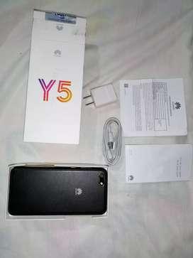 Huawei Y5 con todos sus accesorios originales