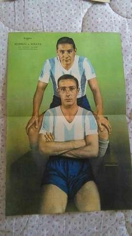 Antiguas Laminas Originales El Grafico Racing 1934 1937 JUGADORES DE LA ACADEMIA