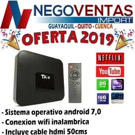 TV BOX TX9 3G X 32 , CONVIERTA TU SMART TV