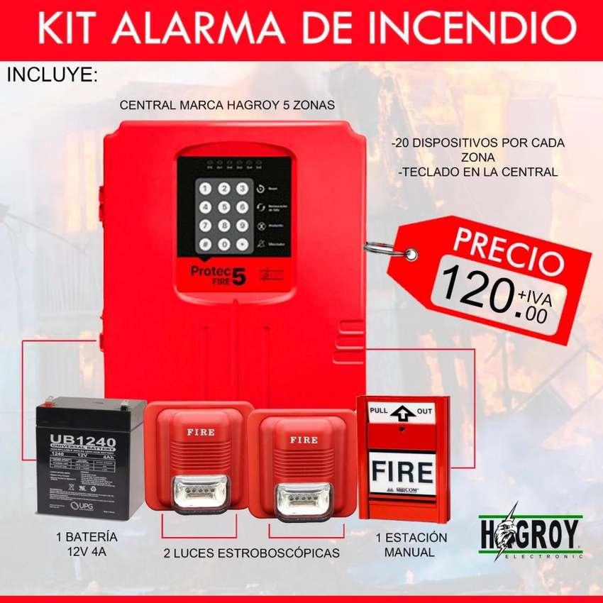 alarma de incendio convencional/alarma de incendio protec fire 5 zonas/detector de humo/estacion manual-Quito-Guayaquil 0