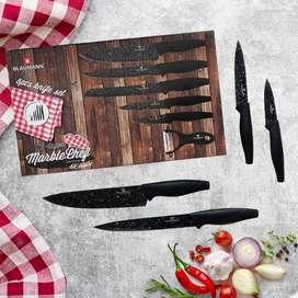 Set de cuchillos de 6 piezas en acero inoxidable con recubrimiento en cerámica segunda mano  Gratamira