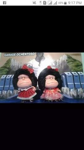 Mafalda muñeca años 60 caucho buen estado