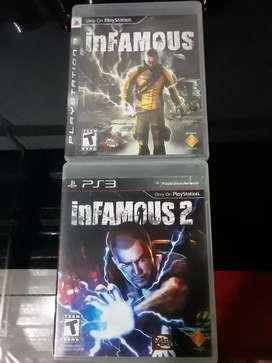 Vendo juegos coleccion Infamous ps3
