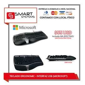 TECLADO ERGONOMIC - INTERFAZ USB (MICROSOFT)