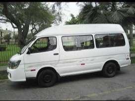 Vendo Mini bus blanca, Jimbei, Modelo Haise 2014,con aire acondicionado, asientos forrados, radio, usb,buen estado.