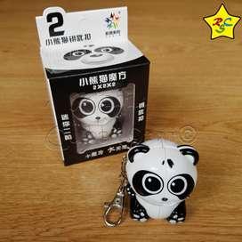 Cubo Rubik Oso Panda 2x2 Animal Yuxin Llavero Speedcube