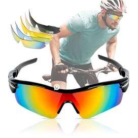 Gafas Deportivas Ciclismo 5 Lentes Intercambiables Estuche