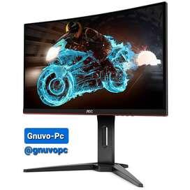 Monitor Curvo Gamer Gaming Aoc 24 Pulgadas 165Hz 165 Hz 1ms FHD FreeSync Premium 1080p