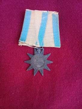antigua medalla campaña del paraguay 1865 a 1869 plata