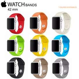 Correas Apple Watch Silicon Cuero Nylon Milanese 38 mm y 42 mm