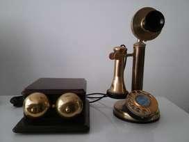 ANTIGUO TELEFONO CANDELERO