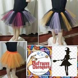 Halloween Tutu o Falda de tul para niña