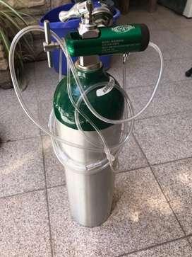 Tubo oxigeno nuevo aluminio liviano