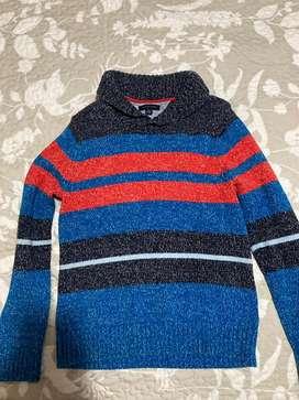 Saco de lana grueso elegante de cuello Tommy Hilfiger original 12-14 años talla L