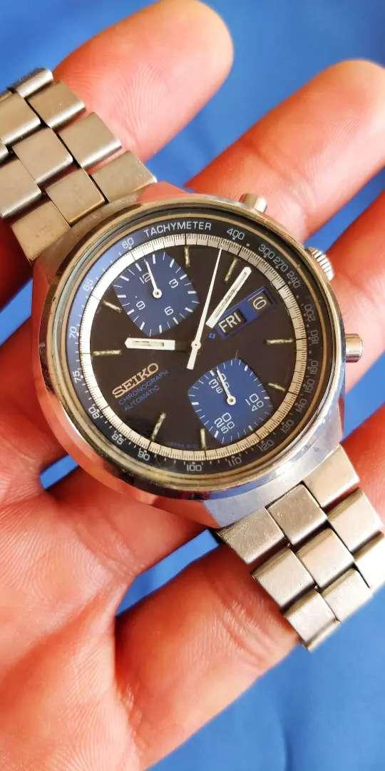 Reloj Seiko Cronografo Automático Vintage 6138-8030 Jhon Prayer Special 0