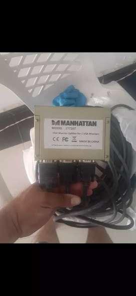 Espliter VGA Manhattan  x 2 ch con cables